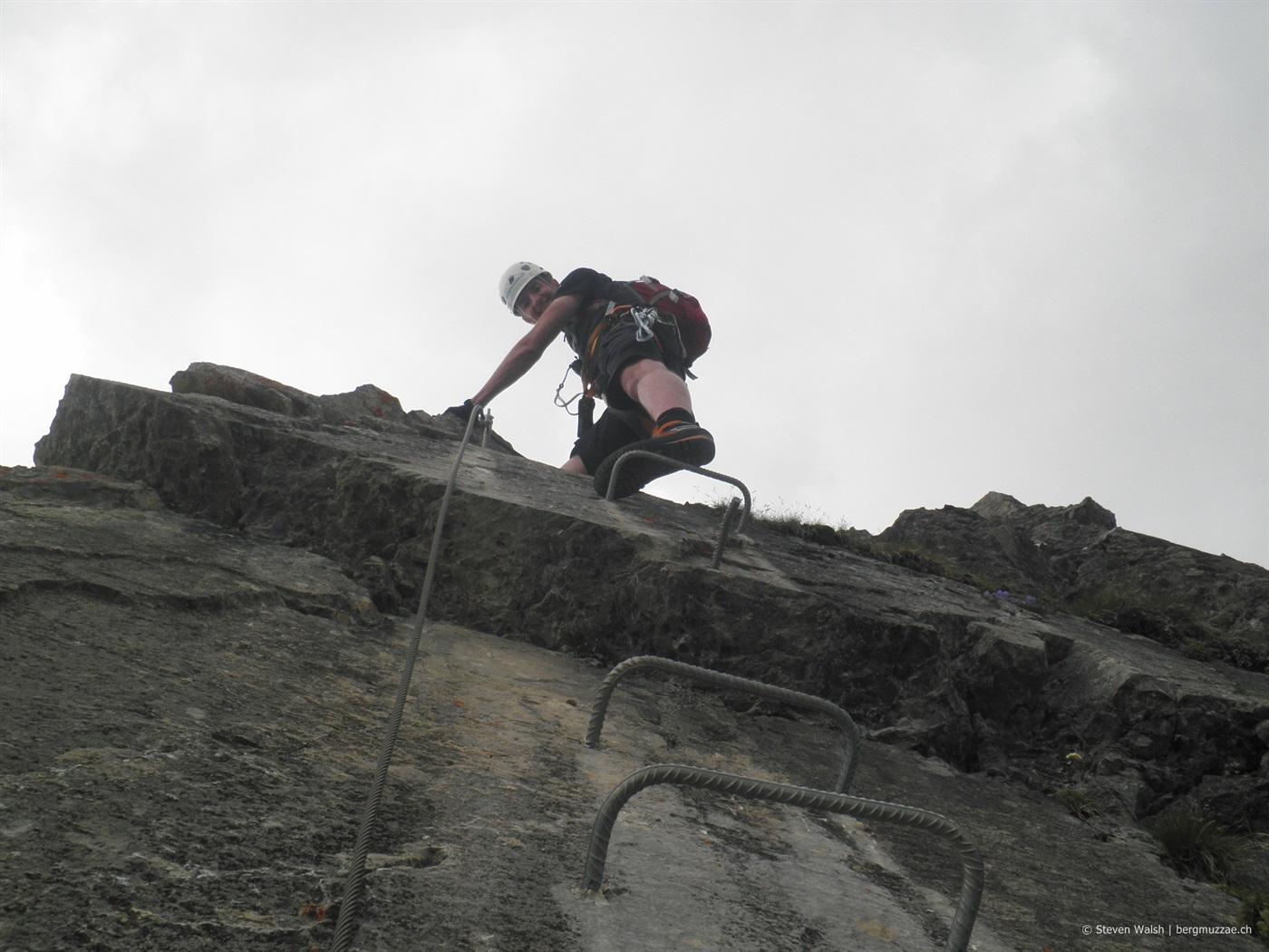 Klettersteig Graustock : Graustock m bergmuzzae