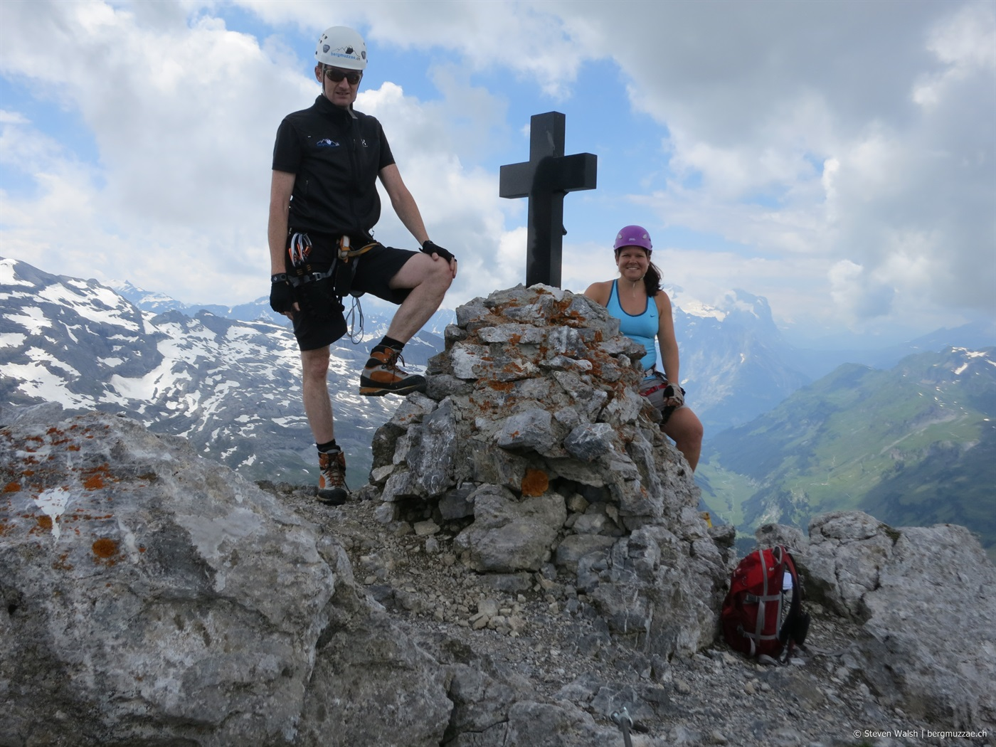 Klettersteig Graustock : Graustock m u bergmuzzae