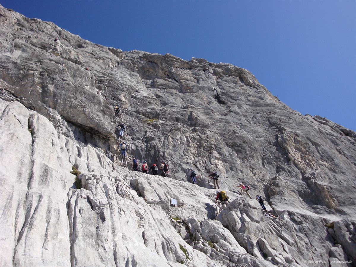 Klettersteig Sulzfluh : Sulzfluh klettersteig m bergmuzzae