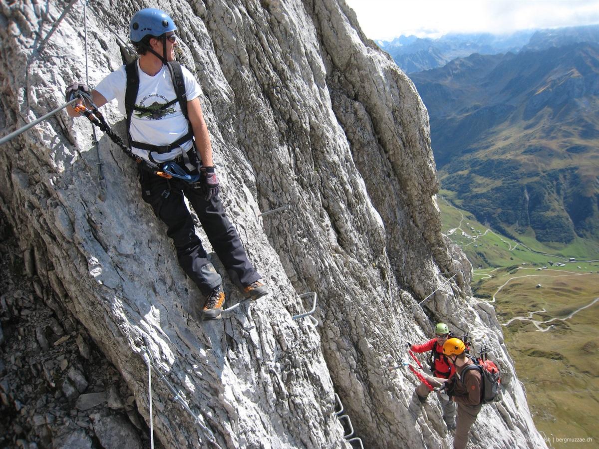 Klettersteig Sulzfluh : Sulzfluh klettersteig m u bergmuzzae